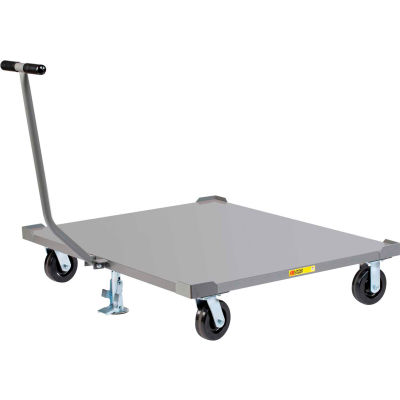 Little Giant® Pallet Dolly PDST48486PHFLLR with T-Handle & Floor Locks - Solid Deck 48 x 48