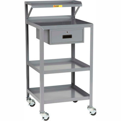 Little Giant® Mobile Shop Stand PSR-2436-3RBK-DR, 36 x 24