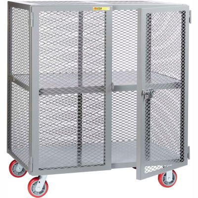 Little Giant® Mobile Storage Locker SC-2448-6PPY 1 Center Shelf 24x48 Polyurethane Whls