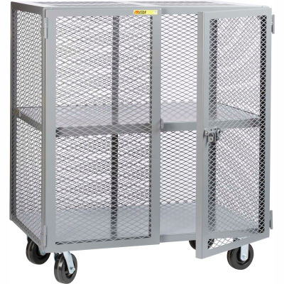 Little Giant® Mobile Storage Locker SC-3072-6PH, 1 Center Shelf, 30x72, Phenolic Wheels