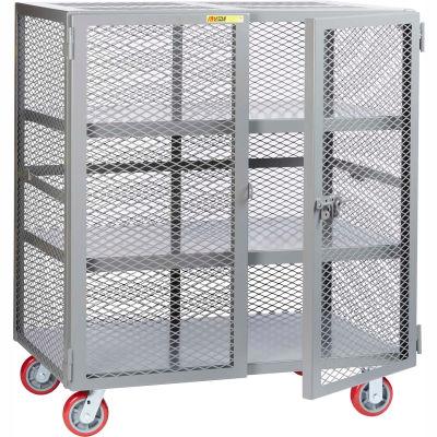 Little Giant® Mobile Storage Locker SC2-3060-6PPY, 2 Center Shelves, 30 x 60, Poly Wheels