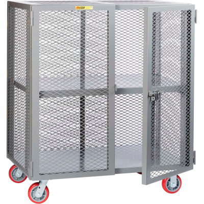 Little Giant® Mobile Storage Locker SCA-3048-6PPY, Adjustable Shelf, 30 x 48, Poly Whls