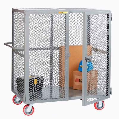 "Little Giant® HD Job Site Security Box Truck w/Handle, No Center Shelf, 24x60, 6"" Poly Wheels"