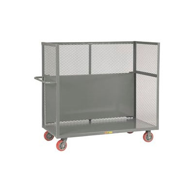 Little Giant® Drop-Shelf Truck T1-3048-6PY-DS, Mesh Sides, 30 x 48