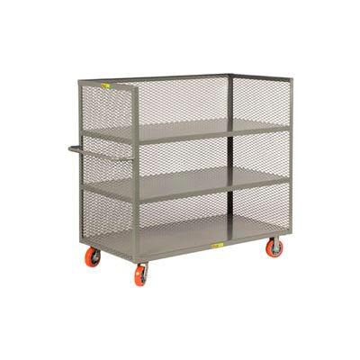 Little Giant® 3-Sided Truck T3-3048-6PY, 3 Shelves, Mesh Sides, 30 x 48