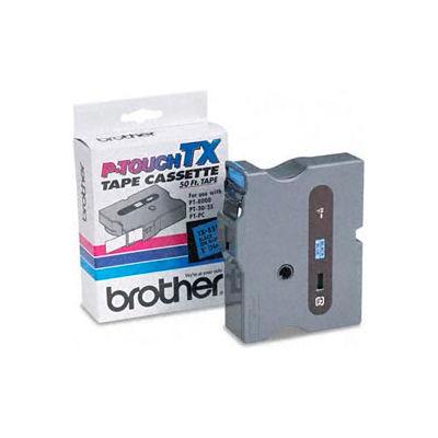 TX Series Tape Cartridge for PT-8000, PT-PC, PT-30/35, Black on Blue, 1 wide