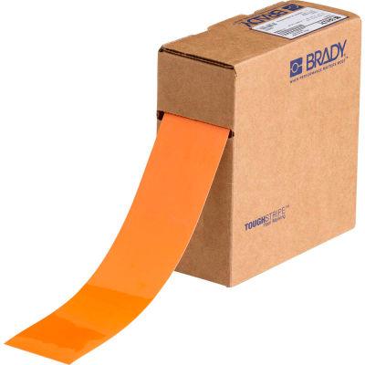 "Brady® 104316 ToughStripe Floor Marking Tape, Polyester, 2""W X 100'L, Orange"