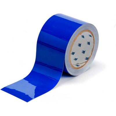 """Brady® 104344 ToughStripe Floor Marking Tape, Polyester, 3""""W X 100'L, Blue"""