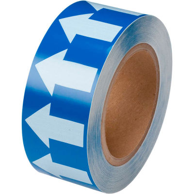 """Brady® 91423 Pipe Marker Arrow Tape, Vinyl, 2""""W x 30 Yds., Blue/White"""