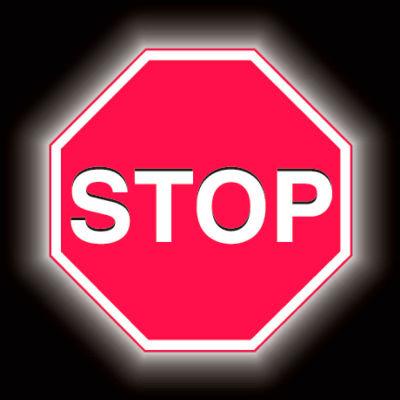 """Brady® 95043 Premium Stop Sign, Aluminum, 18""""W X 18""""H"""