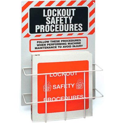 """Brady® 99289 Lockout Procedure Station With Binder, Polystyrene, 14""""W x 20""""H"""