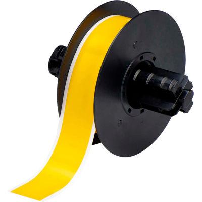 """Brady® B30 Indoor-Outdoor Industrial Vinyl Labels, 1-1-8""""W X 100'L, Yellow, B30C-1125-595-YL"""