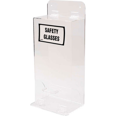 """Brady® MVSDL Deluxe Safety Glasses Holder With Lid, Acrylic, 8""""W x 18""""H"""