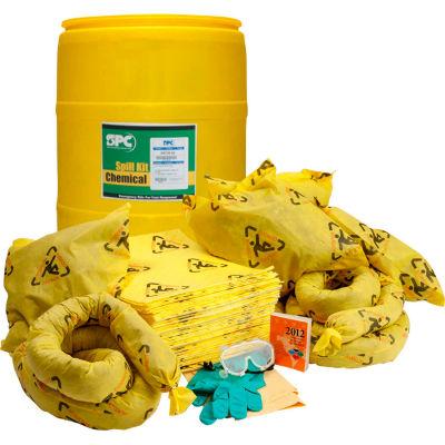 Brady SPC® SKCH-55 BRIGHTSORB™ High Visibility Spill Kit, Chemical, 55 Gallon Drum