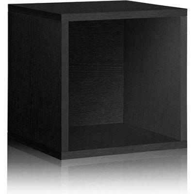 Way Basics Stackable Large Storage Cube, Black