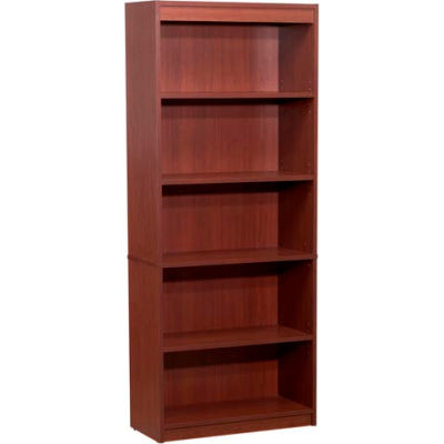 "72"" Bookcase with 5 Shelves in Bordeaux"