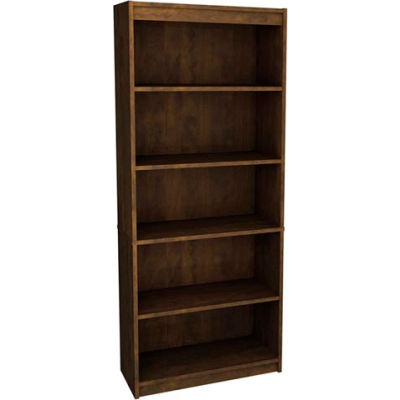 """72"""" Bookcase with 5 Shelves in Chocolate"""