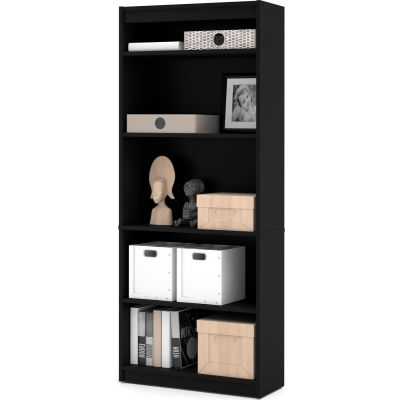 "Bestar® Bookcase 29-1/2""W x 11-5/8""D x 72""H 5 Shelf Black"