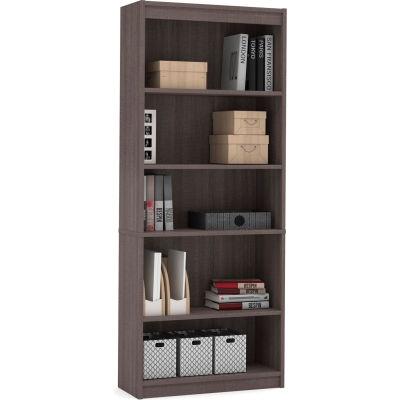 "Bestar® Bookcase 29-1/2""W x 11-5/8""D x 72""H 5 Shelf Bark Gray"