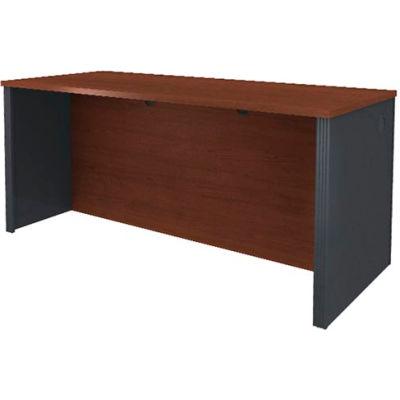 "Bestar® Executive Wood Desk - 71"" - Bordeaux & Graphite - Prestige+"