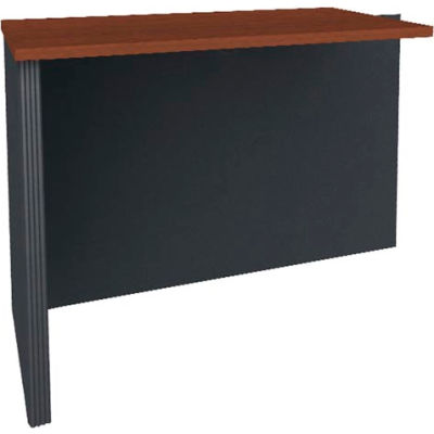 "Bestar® Return Table - 40"" - Bordeaux & Graphite - Prestige+"
