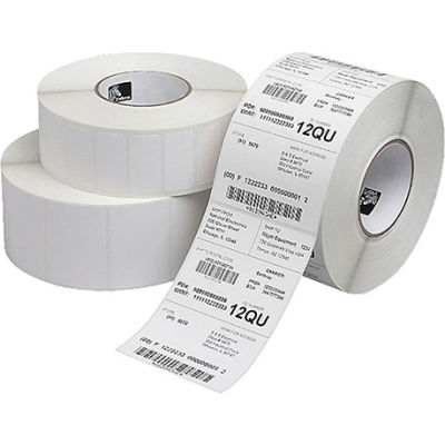 """Zebra 10000301 Z Perform Paper Labels 4""""W x 6""""L, Perforated 3"""" Core, 8""""OD, Case of 4"""