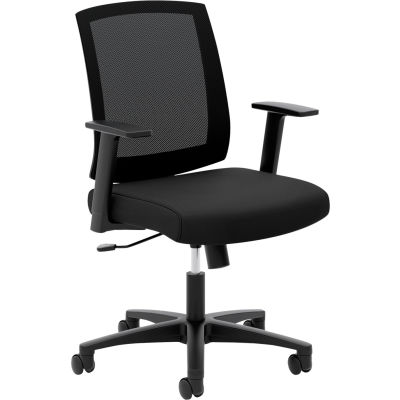 HON Torch Mesh Mid-Back Task Chair, Fixed Arms, in Black (HVL511)
