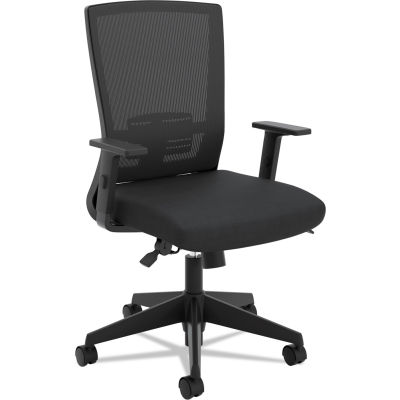 HON Entire Mesh High-Back Task Chair, with Adjustable Arms, in Black (HVL541)