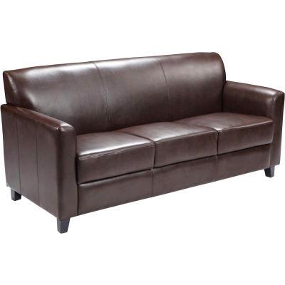 Leather Guest Sofa - Brown - Hercules Diplomat Series