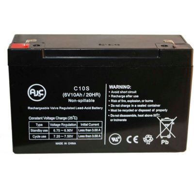 AJC® Big Beam H2SC12S10 6V 10Ah Emergency Light Battery