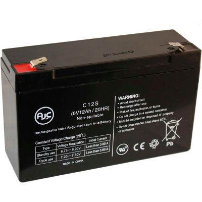 AJC® Teledyne Big Beam D2BR12S7 6V 12Ah Emergency Light Battery