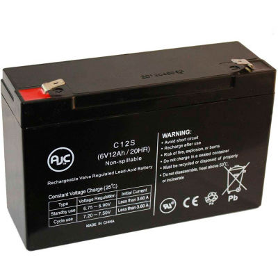 AJC® Power-Sonic PS-6100F 6V 12Ah Sealed Lead Acid Battery