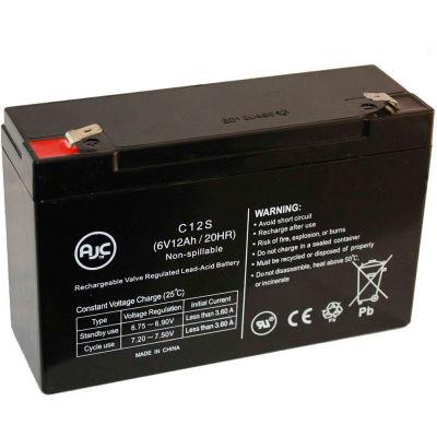 AJC® Big Beam H2MQ6S16 6V 12Ah Emergency Light Battery