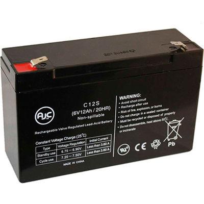 AJC®  B&B BP12-6 T2 6V 12Ah Sealed Lead Acid Battery
