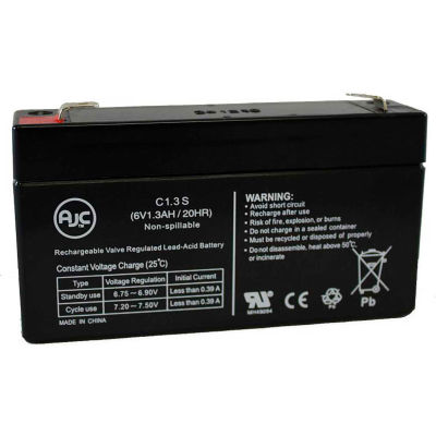 AJC® Diamec DM6-1.3 6V 1.3Ah Sealed Lead Acid Battery