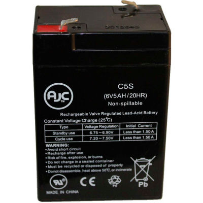 AJC® Prescolite ERB-0604 6V 5Ah Emergency Light Battery