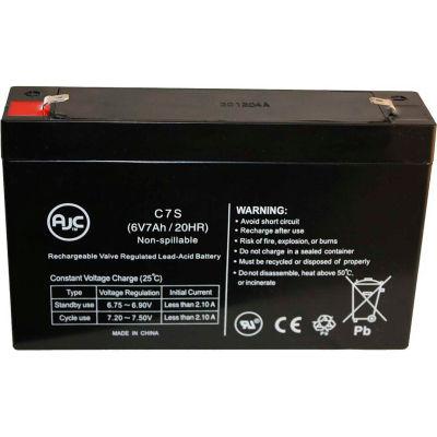 AJC® Power-Sonic PS-665 6V 7Ah Emergency Light Battery