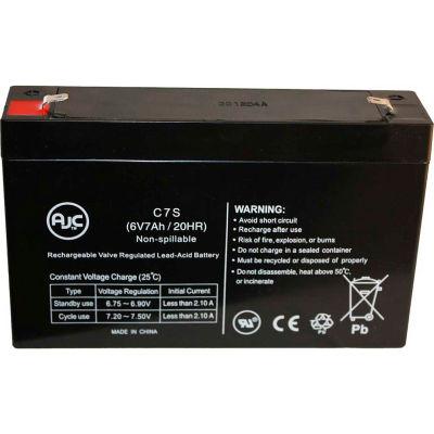 AJC® Panasonic LCR6V65P1 6V 7Ah Emergency Light Battery
