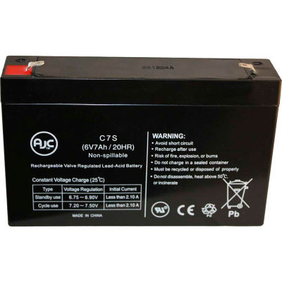 AJC® Interstate SLA0925 6V 7Ah Sealed Lead Acid Battery
