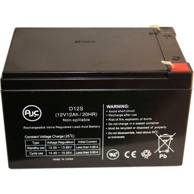 AJC® Jack Palmer Industries Shopper Electric 12V 12Ah Scooter Battery
