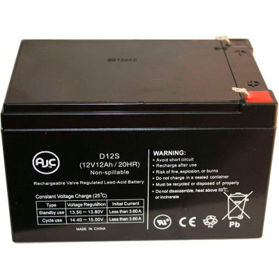 AJC® Minuteman Pro 1000 White 12V 12Ah UPS Battery