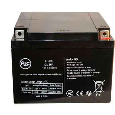 AJC® GE 110 AMX II Portable X-Ray 12V 26Ah UPS Battery