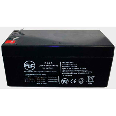 AJC® PBQ 3.2-12 12V 3.2Ah Sealed Lead Acid Battery