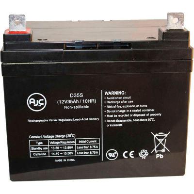 AJC® Pride Mobility BATLIQ1017 AGM 12V 35Ah Wheelchair Battery