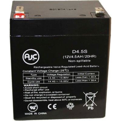 AJC® Potter Electric BT40 12V 4.5Ah Alarm Battery