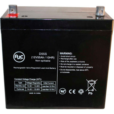 AJC® Hoveround Teknique UBD FWD GT 12V 55Ah Wheelchair Battery