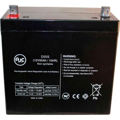 AJC® Quickie Design P190 12V 55Ah Wheelchair Battery