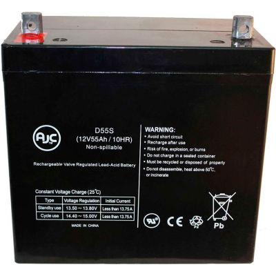 AJC® Electric Mobility Rascal MWD 22NF 12V 55Ah Wheelchair Battery