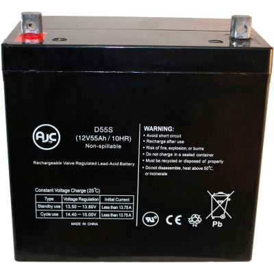 AJC® Quickie Rhythm M3HD M5HD M7HD 12V 55Ah Wheelchair Battery