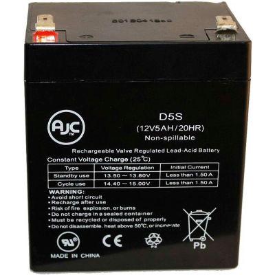 AJC® Interstate PC1250 12V 5Ah Sealed Lead Acid Battery